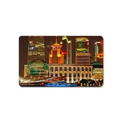 Shanghai Skyline Architecture Magnet (name Card) by BangZart
