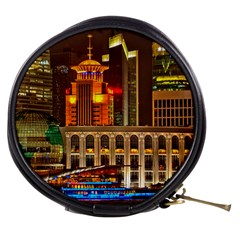 Shanghai Skyline Architecture Mini Makeup Bags