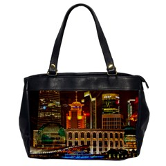 Shanghai Skyline Architecture Office Handbags by BangZart
