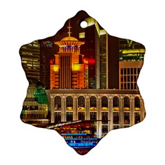 Shanghai Skyline Architecture Ornament (snowflake) by BangZart