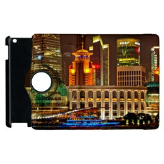 Shanghai Skyline Architecture Apple Ipad 2 Flip 360 Case by BangZart