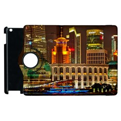 Shanghai Skyline Architecture Apple Ipad 3/4 Flip 360 Case by BangZart