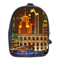 Shanghai Skyline Architecture School Bag (xl) by BangZart
