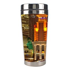 Shanghai Skyline Architecture Stainless Steel Travel Tumblers by BangZart