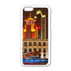 Shanghai Skyline Architecture Apple Iphone 6/6s White Enamel Case by BangZart