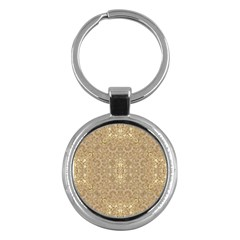 Ornate Golden Baroque Design Key Chains (round)  by dflcprints