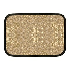 Ornate Golden Baroque Design Netbook Case (medium)  by dflcprints
