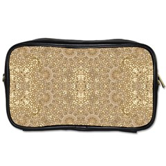 Ornate Golden Baroque Design Toiletries Bags 2 Side by dflcprints