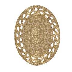 Ornate Golden Baroque Design Oval Filigree Ornament (two Sides) by dflcprints
