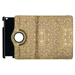 Ornate Golden Baroque Design Apple Ipad 2 Flip 360 Case by dflcprints
