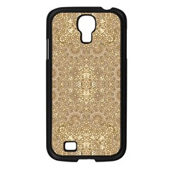 Ornate Golden Baroque Design Samsung Galaxy S4 I9500/ I9505 Case (black) by dflcprints