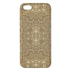 Ornate Golden Baroque Design Iphone 5s/ Se Premium Hardshell Case by dflcprints