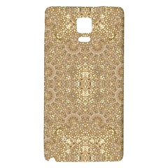 Ornate Golden Baroque Design Galaxy Note 4 Back Case by dflcprints