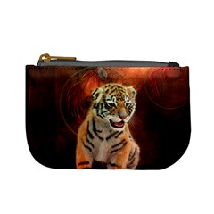 Cute Little Tiger Baby Mini Coin Purses by FantasyWorld7