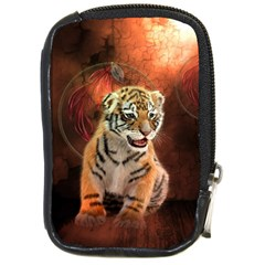 Cute Little Tiger Baby Compact Camera Cases by FantasyWorld7