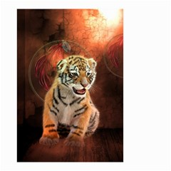Cute Little Tiger Baby Small Garden Flag (two Sides) by FantasyWorld7