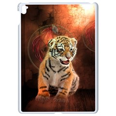 Cute Little Tiger Baby Apple Ipad Pro 9 7   White Seamless Case by FantasyWorld7