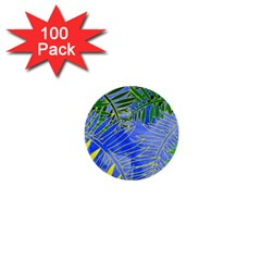 Tropical Palms 1  Mini Buttons (100 Pack)