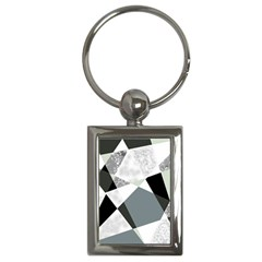 Monogram Marble Mosaic Key Chains (rectangle)  by allgirls