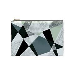 Monogram Marble Mosaic Cosmetic Bag (medium)  by allgirls