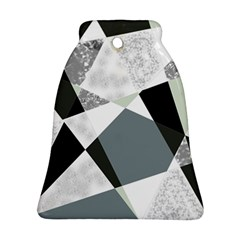Monogram Marble Mosaic Bell Ornament (two Sides) by allgirls