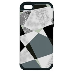 Monogram Marble Mosaic Apple Iphone 5 Hardshell Case (pc+silicone) by allgirls
