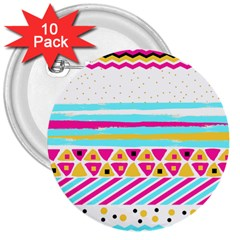 Tribal 3  Buttons (10 Pack)  by allgirls
