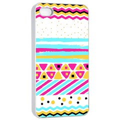 Tribal Apple Iphone 4/4s Seamless Case (white) by allgirls