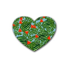 Juicy Watermelons Heart Coaster (4 Pack)  by allgirls