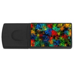 Squiggly Abstract A Rectangular Usb Flash Drive by MoreColorsinLife