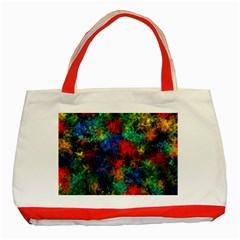 Squiggly Abstract A Classic Tote Bag (red) by MoreColorsinLife