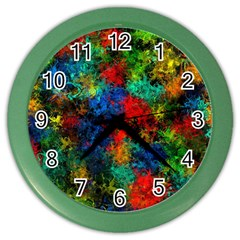 Squiggly Abstract A Color Wall Clocks by MoreColorsinLife