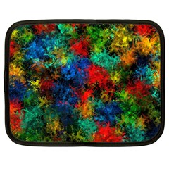 Squiggly Abstract A Netbook Case (xxl)  by MoreColorsinLife