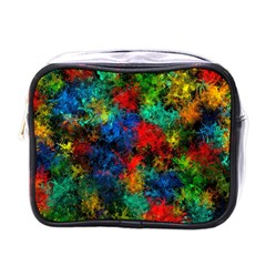 Squiggly Abstract A Mini Toiletries Bags by MoreColorsinLife