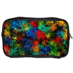 Squiggly Abstract A Toiletries Bags 2 Side by MoreColorsinLife