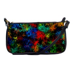 Squiggly Abstract A Shoulder Clutch Bags by MoreColorsinLife