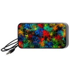Squiggly Abstract A Portable Speaker (black) by MoreColorsinLife