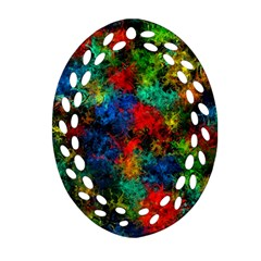 Squiggly Abstract A Oval Filigree Ornament (two Sides) by MoreColorsinLife
