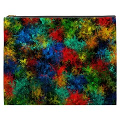 Squiggly Abstract A Cosmetic Bag (xxxl)  by MoreColorsinLife