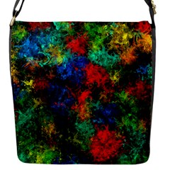 Squiggly Abstract A Flap Messenger Bag (s) by MoreColorsinLife