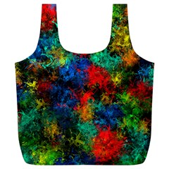 Squiggly Abstract A Full Print Recycle Bags (l)  by MoreColorsinLife