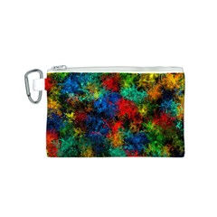 Squiggly Abstract A Canvas Cosmetic Bag (s) by MoreColorsinLife
