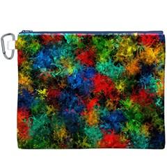 Squiggly Abstract A Canvas Cosmetic Bag (xxxl) by MoreColorsinLife