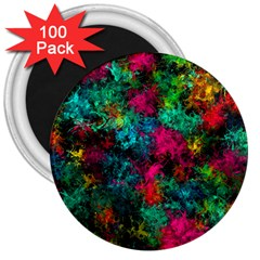 Squiggly Abstract B 3  Magnets (100 Pack)