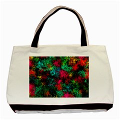 Squiggly Abstract B Basic Tote Bag by MoreColorsinLife