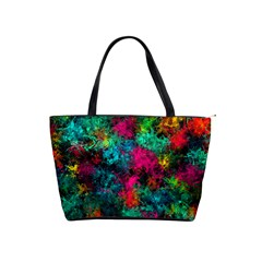 Squiggly Abstract B Shoulder Handbags by MoreColorsinLife
