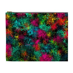 Squiggly Abstract B Cosmetic Bag (xl) by MoreColorsinLife