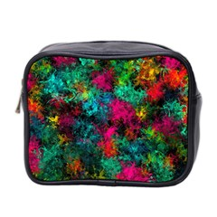 Squiggly Abstract B Mini Toiletries Bag 2 Side by MoreColorsinLife