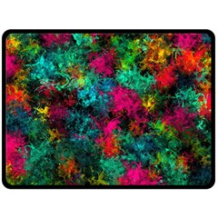 Squiggly Abstract B Fleece Blanket (large)  by MoreColorsinLife