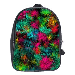 Squiggly Abstract B School Bag (xl) by MoreColorsinLife